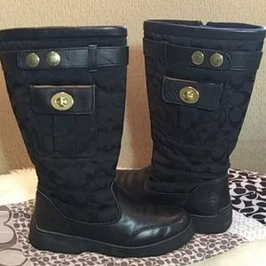 Coach monogram boots with pockets